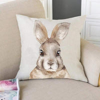FOOZOUP Easter Rabbit Throw Pillow Case Cushion Cover Spring Decor for Sofa Couch 18 x 18 Inch (Bunny)