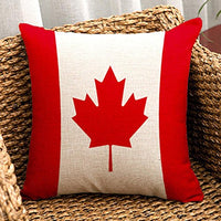 Vintage Stripe American USA Flag - Square Burlap Light Linen Design Throw Pillow Case Shell Cushion Covers 18 x 18 Inch Home Decor - for Living Room, Car Seat, Study