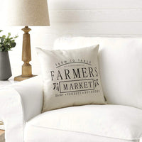 Meekio Farmhouse Pillow Covers with Rooster 18 x 18 Inch for Farmhouse Decor