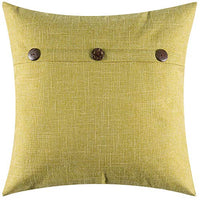 MIULEE Decorative Linen Throw Pillow Covers Cushion Case Triple Button Vintage Farmhouse Pillowcase for Couch Sofa Bed 24 x 24 Inch 60 x 60 cm Beige