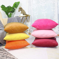 Sykting Lumbar Pillow Covers Solid Super Soft Short Plush Decorative Pillow Covers for Bed Sofa Chair Couch 12x20 inch Pack of 2 Yellow