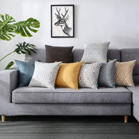 HPUK Decorative Pillow Covers Couch Pillow Covers Throw Pillow Covers for Couch, Sofa, Bed, 17x17 Inch Set of 4 Polyester Farmhouse Pillow Covers, Grey