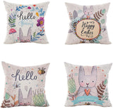 LEIOH Farmhouse Decorative Pillow Covers Set of 4 Home Sweet Home Inspirational Quotes Sofa Throw Pillow Covers Cotton Linen Cushion Cover 18 x 18 Inc