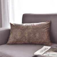 WFLOSUNVE Soft Faux Leather Pillow Cover, Light Brown Decorative Throw Lumbar Pillow Case Cushion Cover for Couch and Sofa 12x20 Inch
