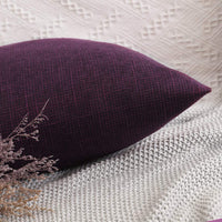 MIULEE Decorative Lumbar Throw Pillow Covers Farmhouse Style Linen Cushion Cases Vintage Decor Purple Pillow Cases for Couch Sofa Bedroom Car 12 x 20 Inch 30 x 50 cm