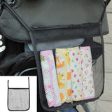 LLJEkieee 1Pc Portable Travel Pouch Storage Organizer Shopping Bag Polyester For Baby Carriage Mesh Bag 30x30cm