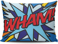 Hoooottle Custom Luxury Funny Colorful Comic Book Wham! Ka-Pow Boudoir Pillowcase Rectangle Zippered One Side Printed 12x18 Inches Throw Pillow Case Cushion Cover