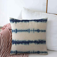 "Staropor Pillow Case Bleached Blue Pattern Denim Tie Dye Ink Bleed Stripe Indigo Splatter White All Over Design Farmhouse Decorative Throw Pillows Covers 20""x20"" for Winter Decorations"
