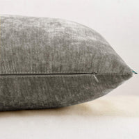 HWY 50 Grey Gray Cashmere Soft Decorative Rectangle Throw Pillows Covers Set Cushion Cases for Couch Bed Living Room Comfortable 12 x 20 inch Pack of 2