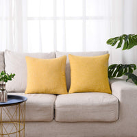 hpuk Decorative Pillow Covers 2 Pack Throw Pillows Covers Couch Pillow Covers Farmhouse Pillowcase 17X17 for Couch, Sofa, Bedroom, Ochre