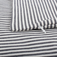 COMHO Pack of 4, Cotton Woven Farmhouse Decorative Throw Pillow Covers, Rustic Cushion Covers, Square Buffalo Checker & Nautical Striped Pillowcase for Sofa Bed 18x18 Inch/45x45 cm (Black and White)