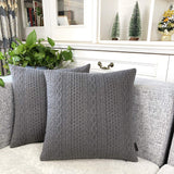 Booque Valley Decorative Pillow Covers, Pack of 2 Super Soft Elegant Modern 3D Embossed Patterned Gray Cushion Covers Throw Pillow Cases for Sofa Bed Car Chair, 20 x 20 inch(Grey)