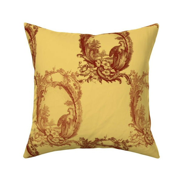 Gold Harvest Farmhouse Fall Throw Pillow Cover w Optional Insert by Roostery
