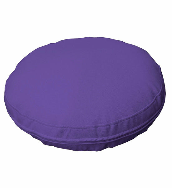 pb313r Lilac Round Faux Leather Soft Thick Mattresses Cushion Cover Custom Size