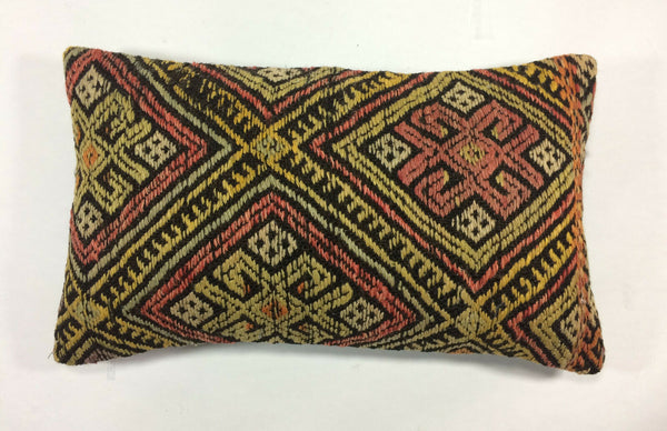 "12""x20"" Kilim Pillow Cover Turkish Vintage Home Decorative Lumbar Cushion 1203"