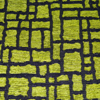 ng06a Lime Black Silver Checker Rough Linen Blend Sofa Cushion Cover/Pillow Case