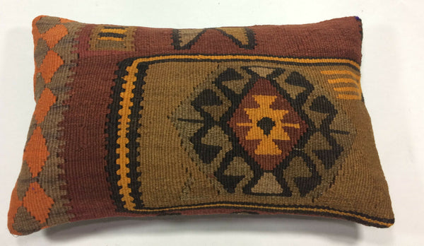 "12""x20"" Kilim Pillow Cover Turkish Vintage Home Decorative Lumbar Cushion 1200"