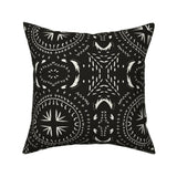Boho Farmhouse Black And White Throw Pillow Cover w Optional Insert by Roostery