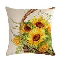 Throw Pillow Covers Home Sofa Bedding Couch Flax Floral Decorative Cushion Case