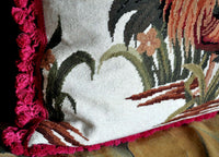 "26"" x 26""Needlepoint Rooster Throw Pillow Cover 