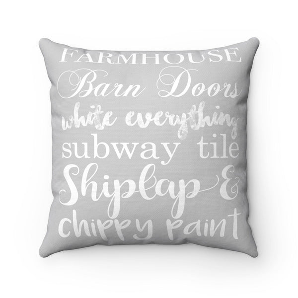 Farmhouse Details Grey Pillow - Shiplap Lover Decor