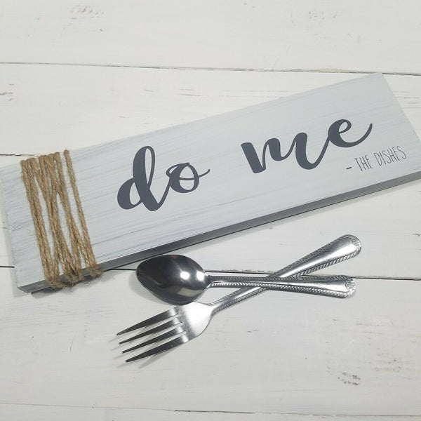 Do Me The Dishes Funny Farmhouse Kitchen Room Home Decor Wood Sign Distressed