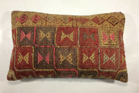 "12""x20"" Anatolian Kilim Pillow Cover Handmade Tribal Ethnic Lumbar Cushion 886"