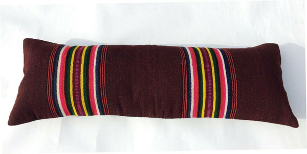 "12""x36"" Extra Long Kilim Lumbar Pillow Cover Vintage Striped Turkish Cushion 463"