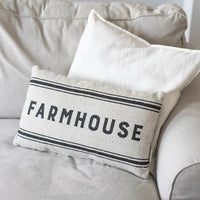""" FARMHOUSE - OUR NEST "" Pillow Two Sided Country Farmhouse Style Pillow 20 x 12"