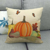 "18x18"" Pumpkin Patch Throw Pillow Case Autumn Farmhouse Decorative Cushion Cover"