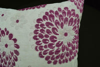 we604a Purple Orchid Aster Chenille Throw Pillow Case/Cushion Cover*Custom Size