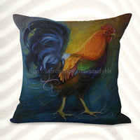 US Seller-covers for thr Set of 2 farmhouse animal rooster chicken cushion cover
