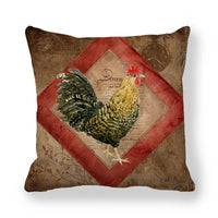 Animals Printing Linen Pillow Case Cushion Cover Christmas Home Sofa Decorative