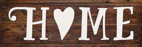 Home with a Heart Farmhouse Rustic Looking Wood Sign Wall Décor B3-06180028034