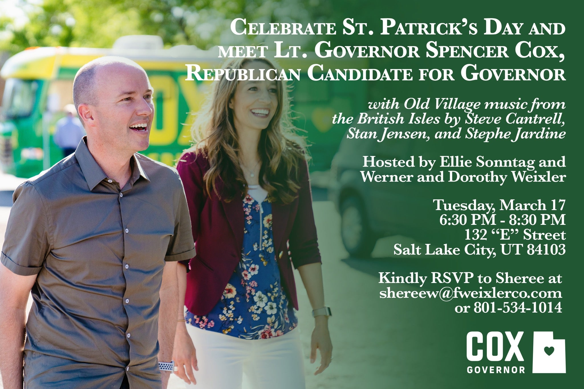 St. Patrick's Day Meet & Greet with Lt. Governor Spencer Cox