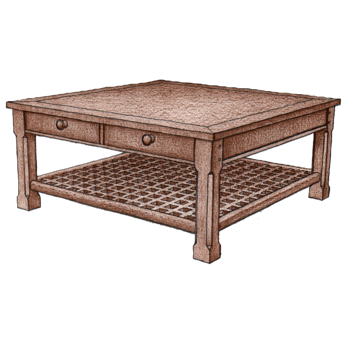 Coffee Table #3800 - FWeixlerCo