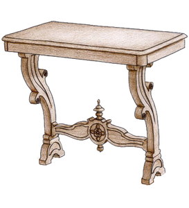 Wall Console Table #3920 - FWeixlerCo
