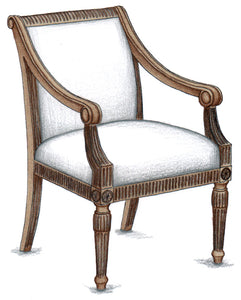 Gilbert Carved Arm Chair - FWeixlerCo