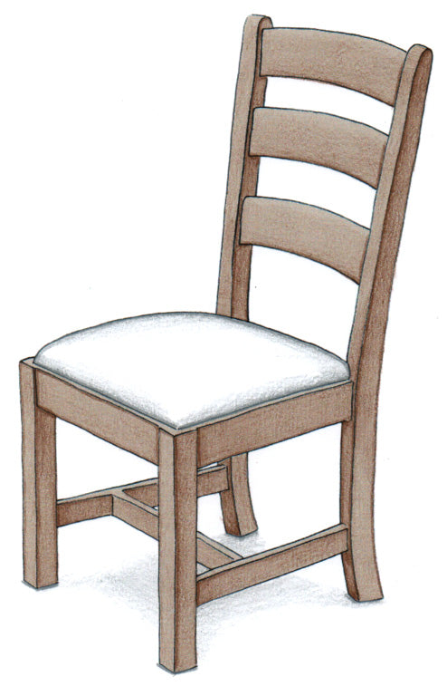 Ladder Back Kitchen Chair - FWeixlerCo