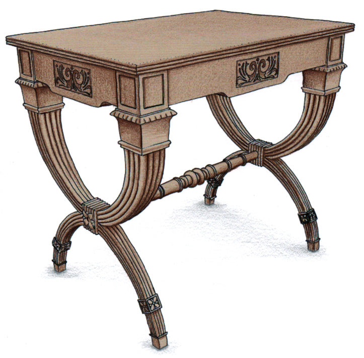 Flower Inlaid End Table - FWeixlerCo