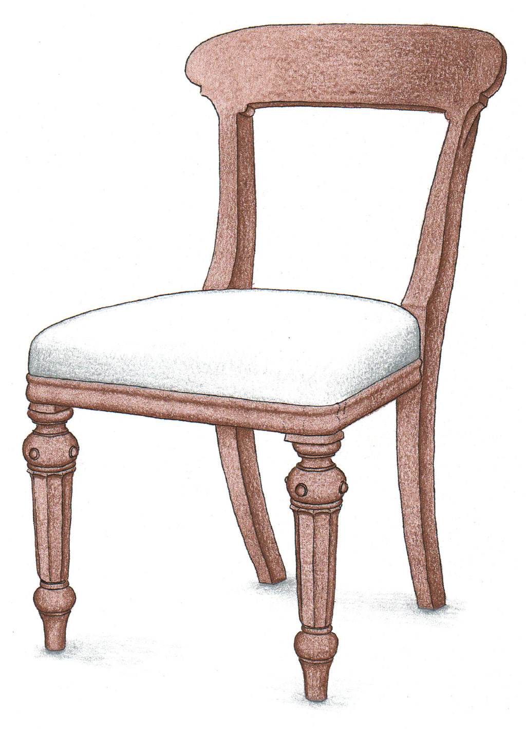 Open Back Side Chair - FWeixlerCo
