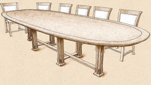 Oval Six Post Dining Table - FWeixlerCo