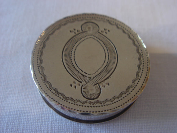 Georgian Silver Patch Box