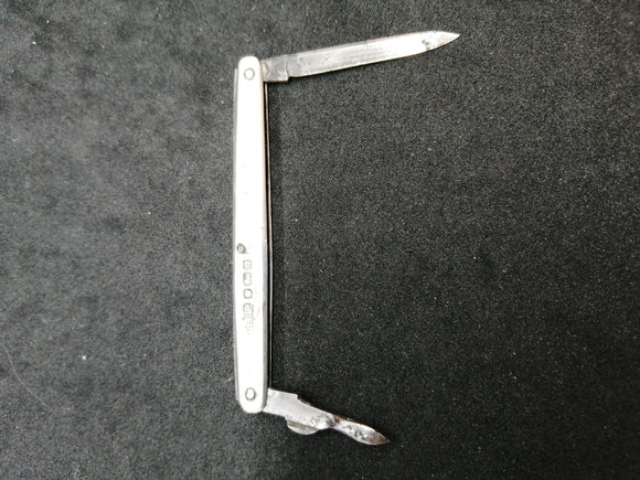 Antique Silver Double Bladed Knife
