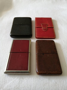 Four 19th Century Calling Card Cases