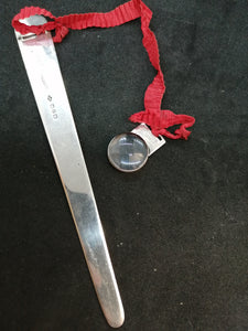 Rare Silver Bookmark & Magnifying Glass