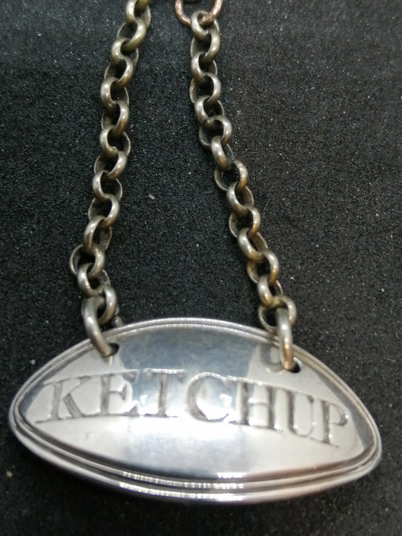 Rare 18th Century Silver Ketchup Label