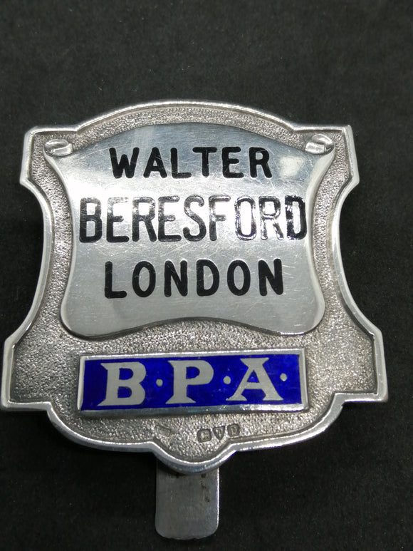 Rare Silver Bookmakers Badge
