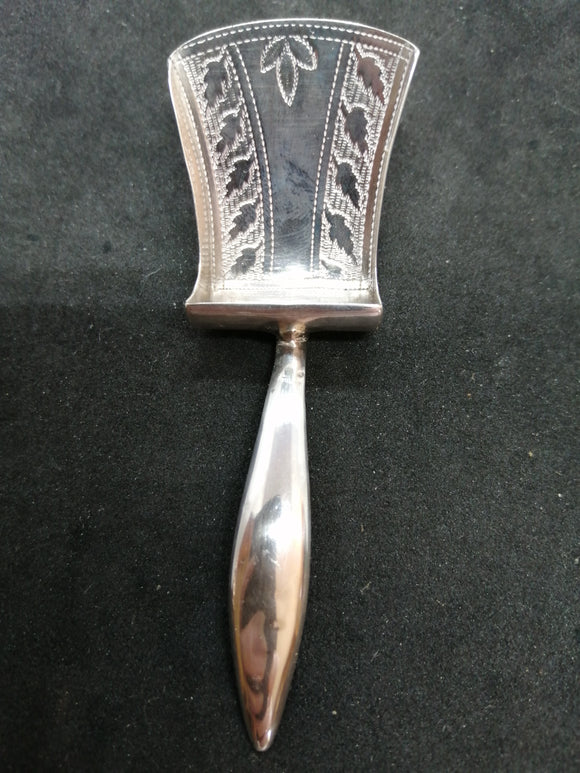 Georgian Silver Caddy Spoon - William Pugh