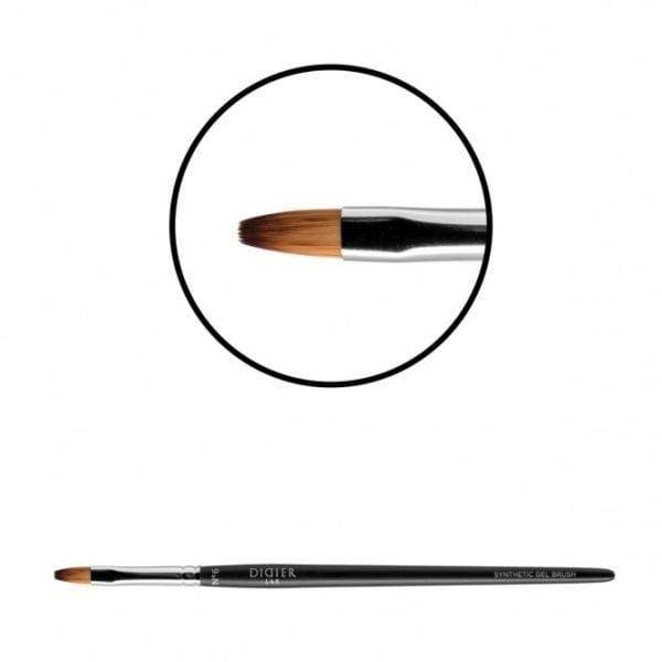 "Didierlab Brushes Gel brush ""Didier Lab"", No6, ovalas (tiger toray), 1psc"